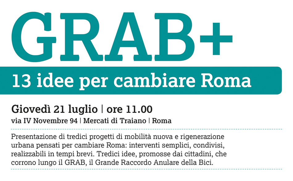 GRAB+, 13 idee per cambiare Roma