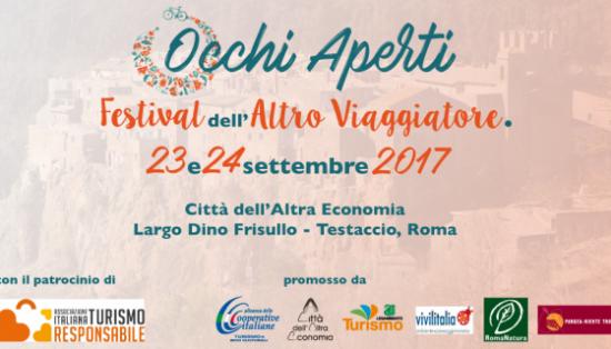Occhi Aperti, Festival dell'Altro Viaggiatore, a Roma il 23 e 24 settembre